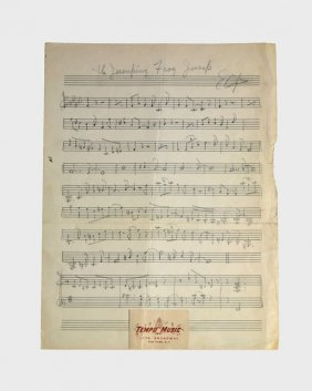 """""""the Jumping Frog Jump,"""" Lead Sheet"""