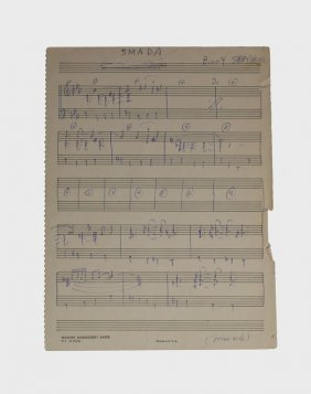 """smada,"" Lead Sheet"