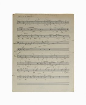 """""""a Drum Is A Woman,"""" Sheet Music"""