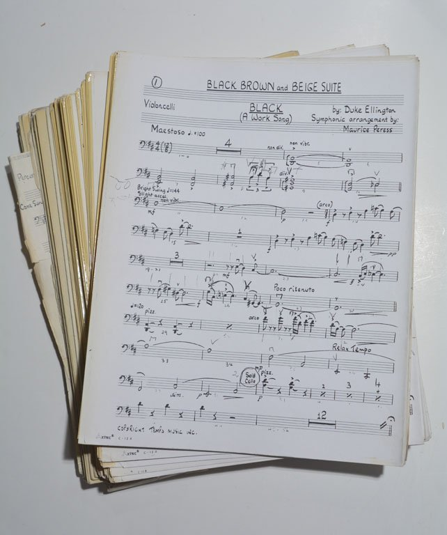 """""""Black, Brown, and Beige Suite,"""" full Orchestral Set"""