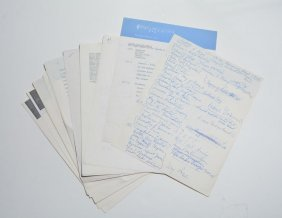 Sacred Concert, Assorted Documents