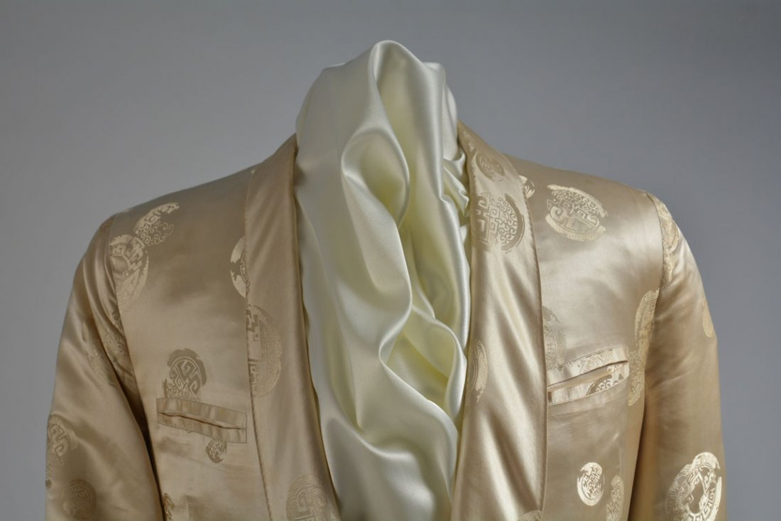 Cream-colored Silk Performance Jacket - 3