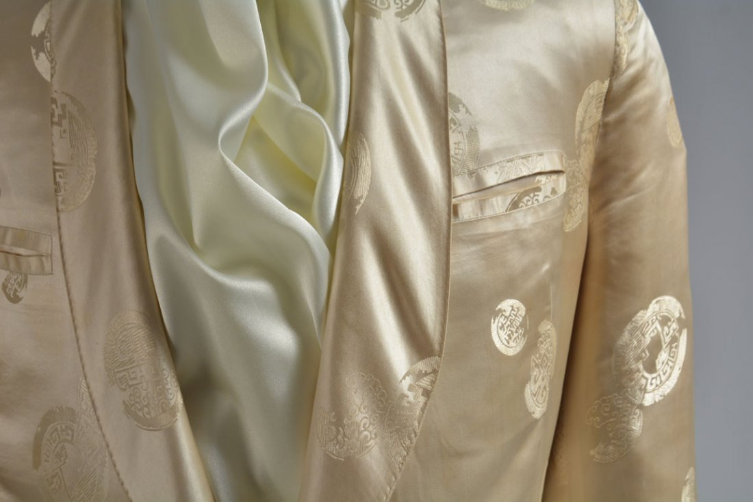Cream-colored Silk Performance Jacket - 4