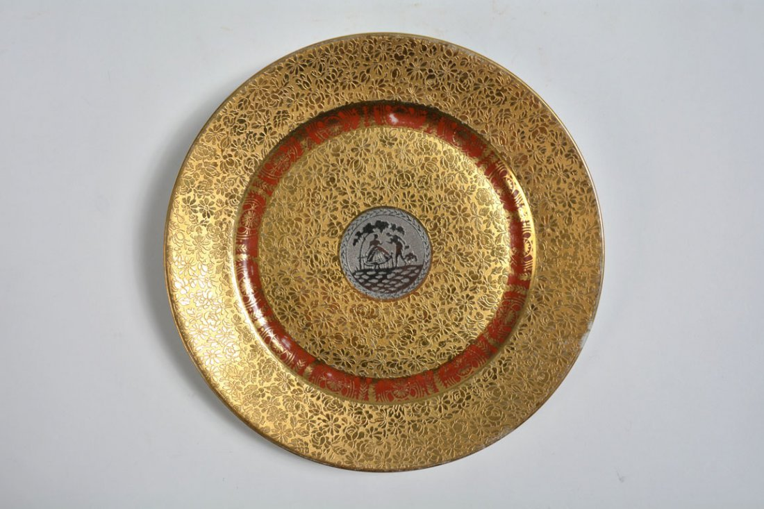 Gold Bohemia Dinner Plates - 10