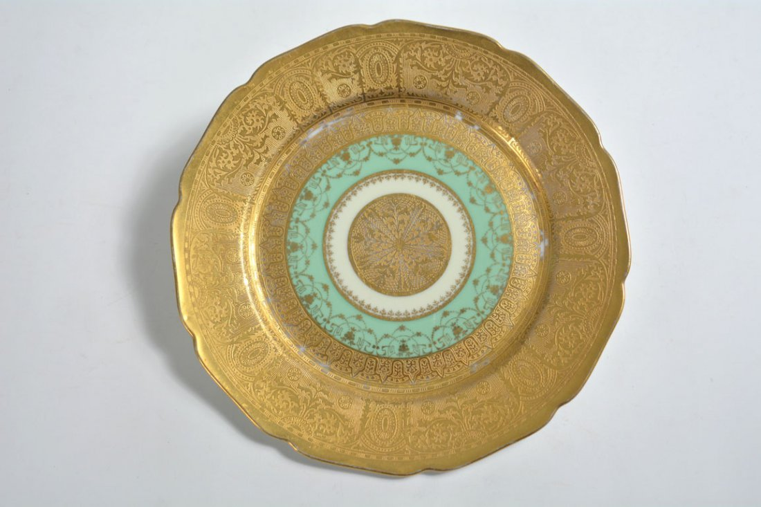 Gold Bohemia Dinner Plates - 2