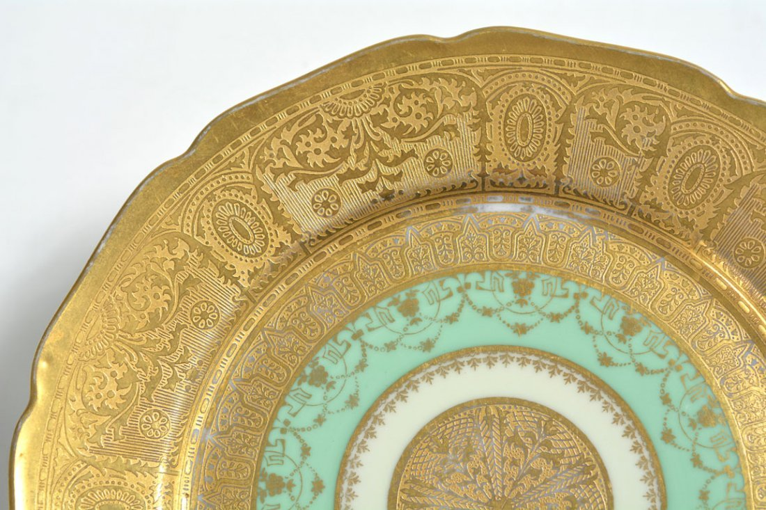 Gold Bohemia Dinner Plates - 7