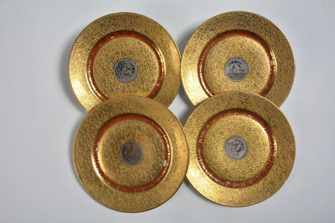 Gold Bohemia Dinner Plates - 9