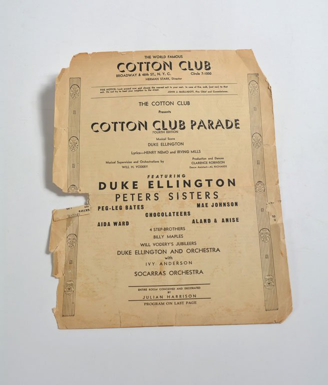 Cotton Club Program