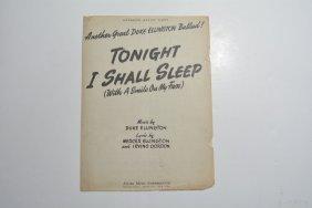 """tonight I Shall Sleep (with A Smile On My Face),"""