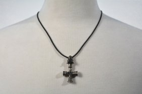 Johnny Winter's Silver Jaguar Cross Pendant