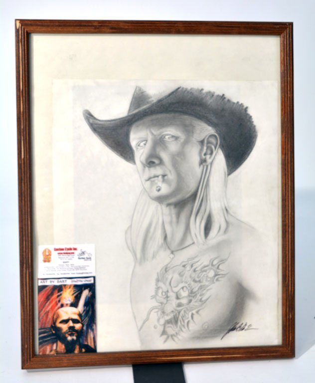 Framed Illustration of Johnny Winter