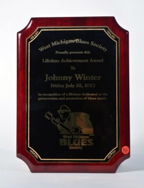 Lifetime Achievement Award, West Michigan Blues Society