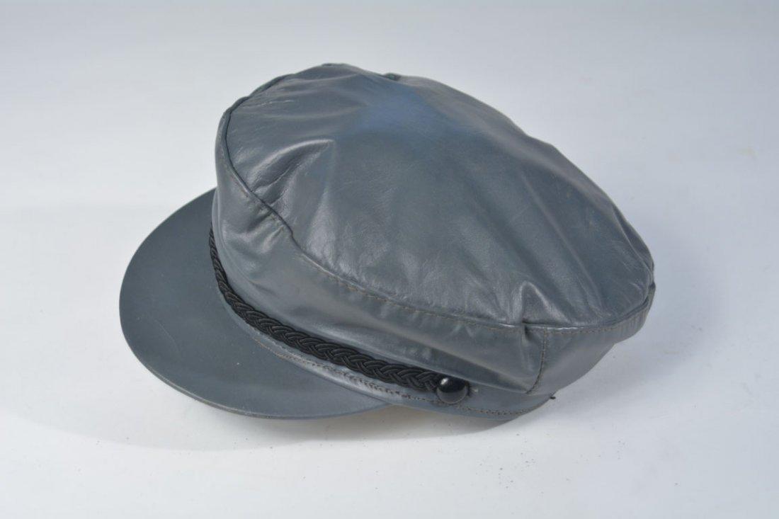 Johnny Winter's Gray Newsboy Cap - 2