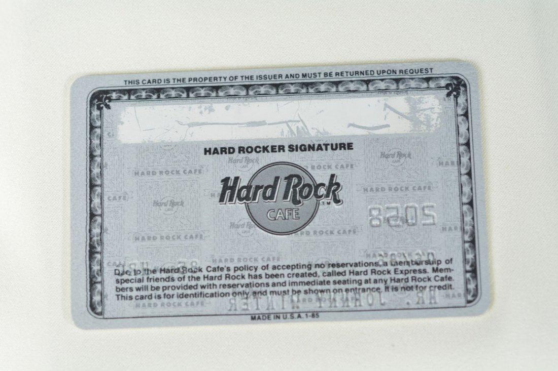 Johnny Winter's Hard Rock Cafe Membership Card - 2