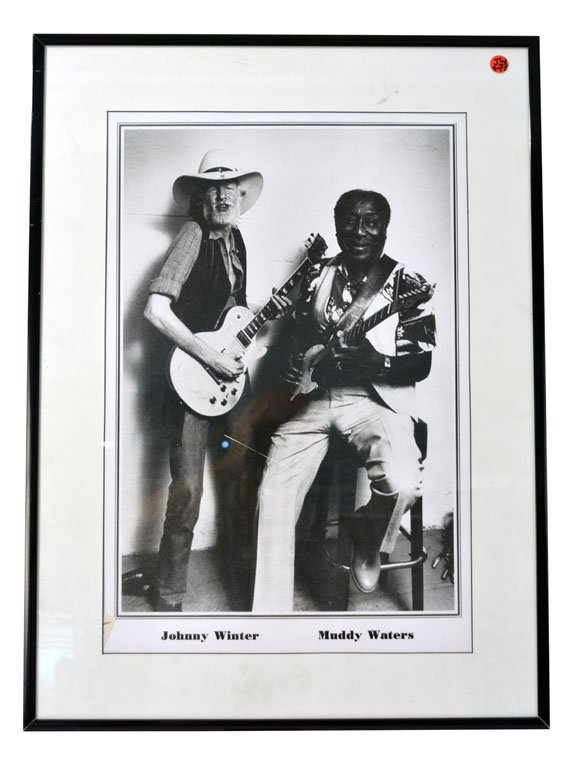 Framed Photo of Johnny Winter and Muddy Waters