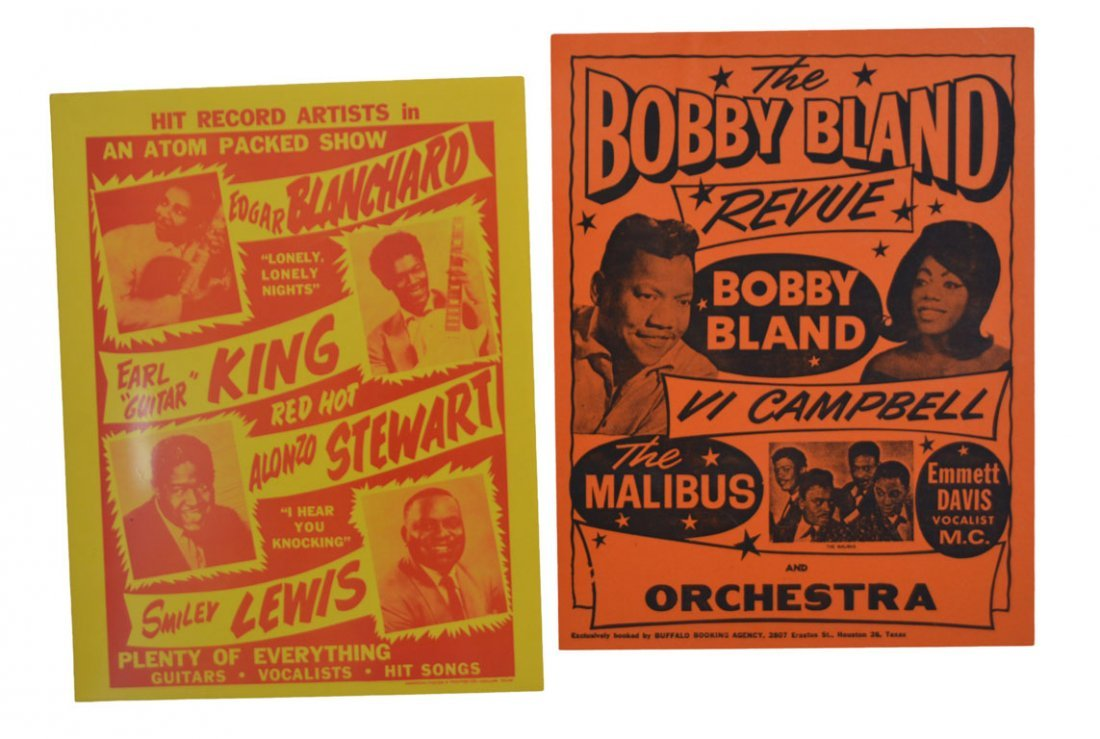 "Posters: ""An Atom Packed Show"" and ""The Bobby Bland"