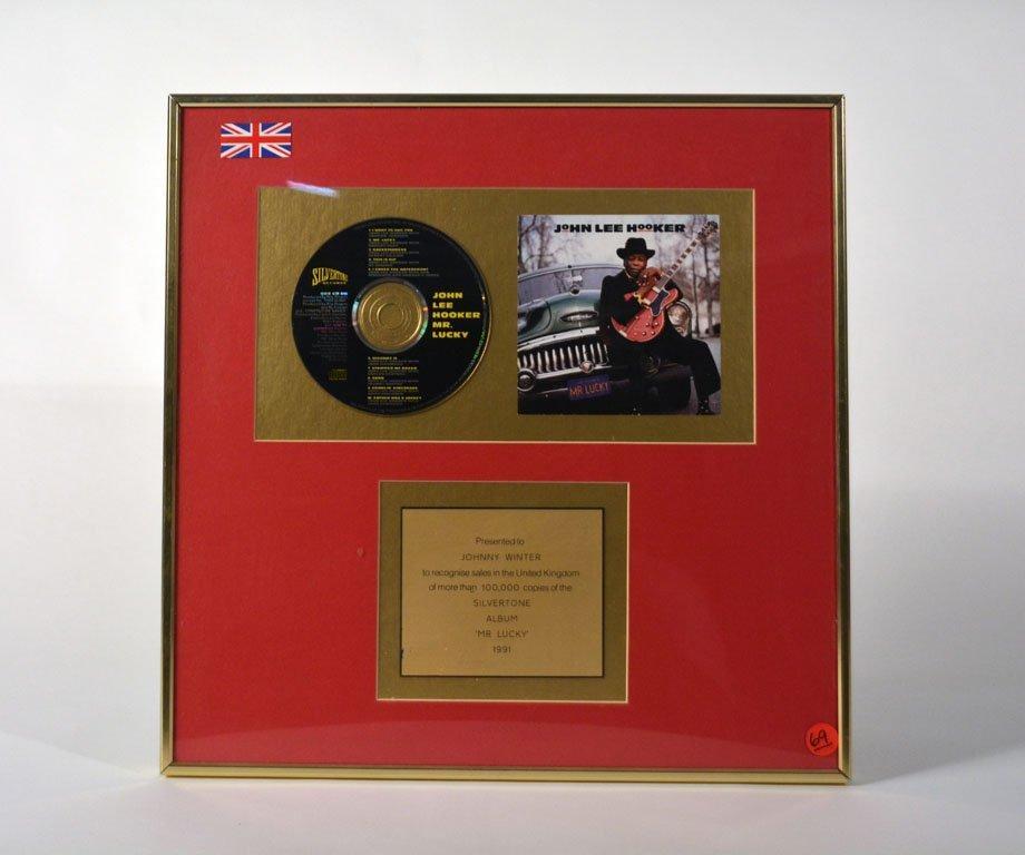 """Gold Record for John Lee Hooker's """"Mr. Lucky"""""""