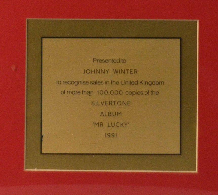 """Gold Record for John Lee Hooker's """"Mr. Lucky"""" - 2"""