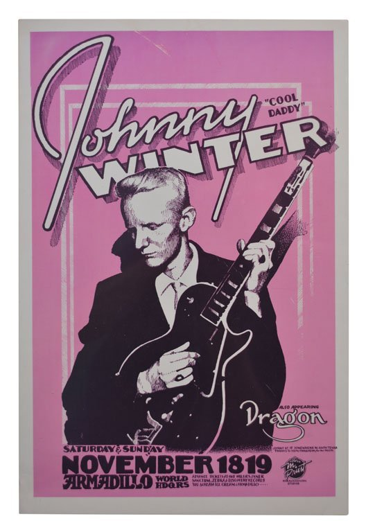 "Poster: Johnny Winter ""Cool Daddy"""