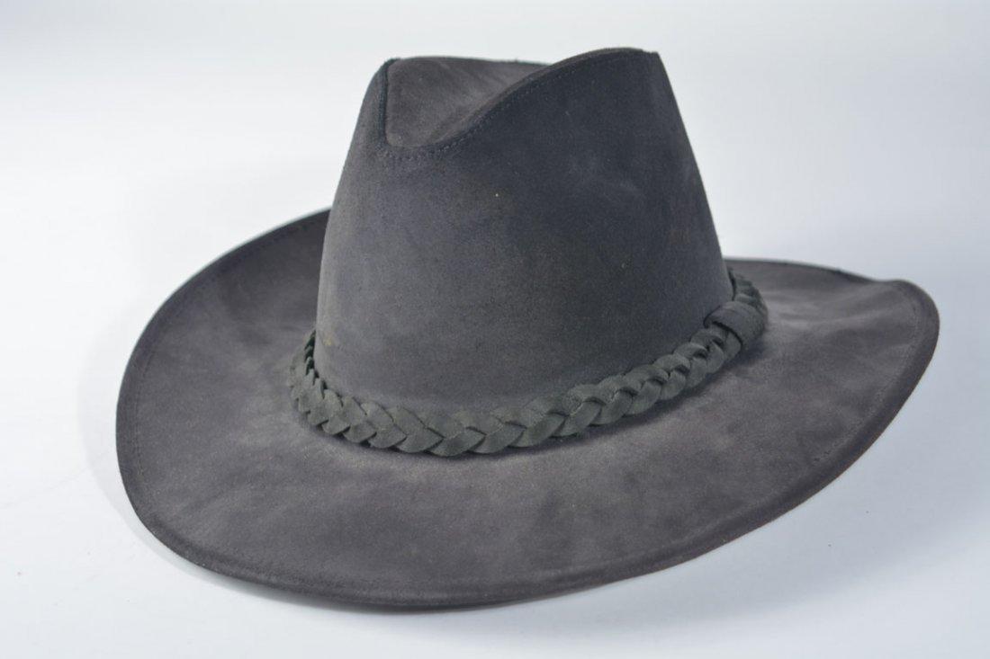 Johnny Winter's Black Suede Cowboy Hat - 2
