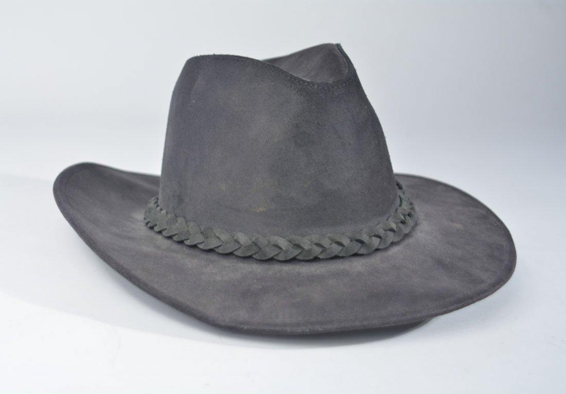 Johnny Winter's Black Suede Cowboy Hat - 3