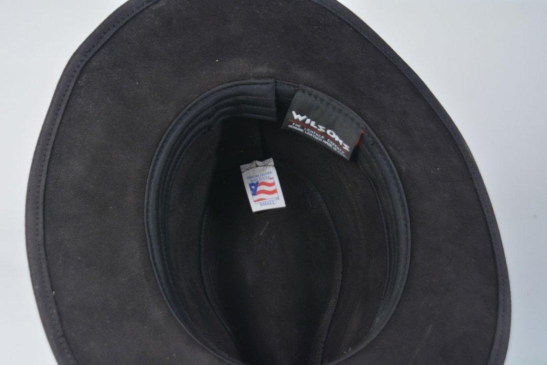 Johnny Winter's Black Suede Cowboy Hat - 4