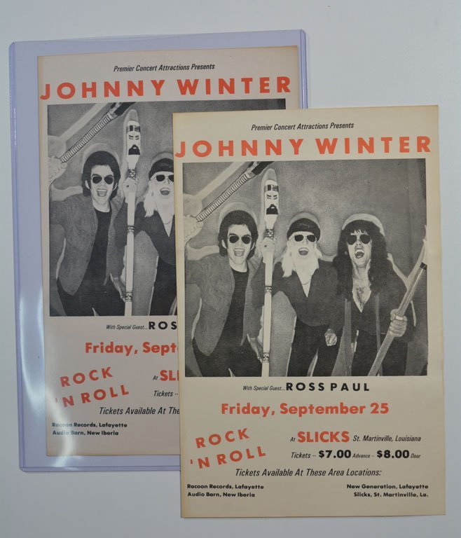Poster: Johnny Winter with Ross Paul