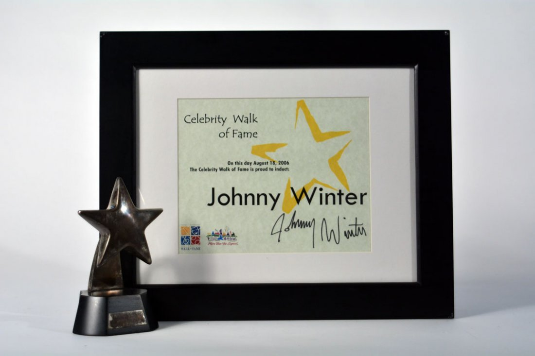 Certificate and Statuette from Celebrity Walk of Fame