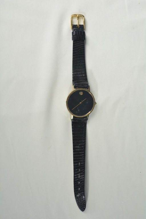 Gold Watch With Lizard Straps