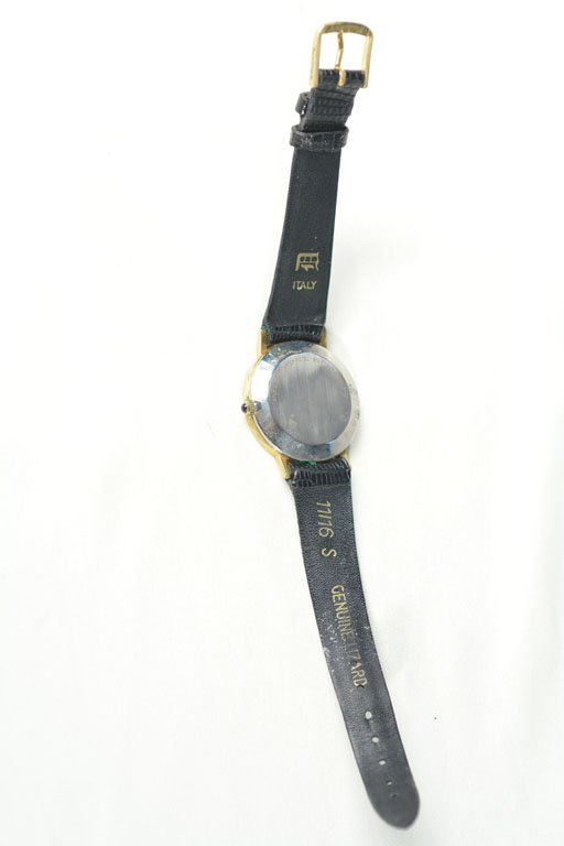 Gold Watch With Lizard Straps - 2