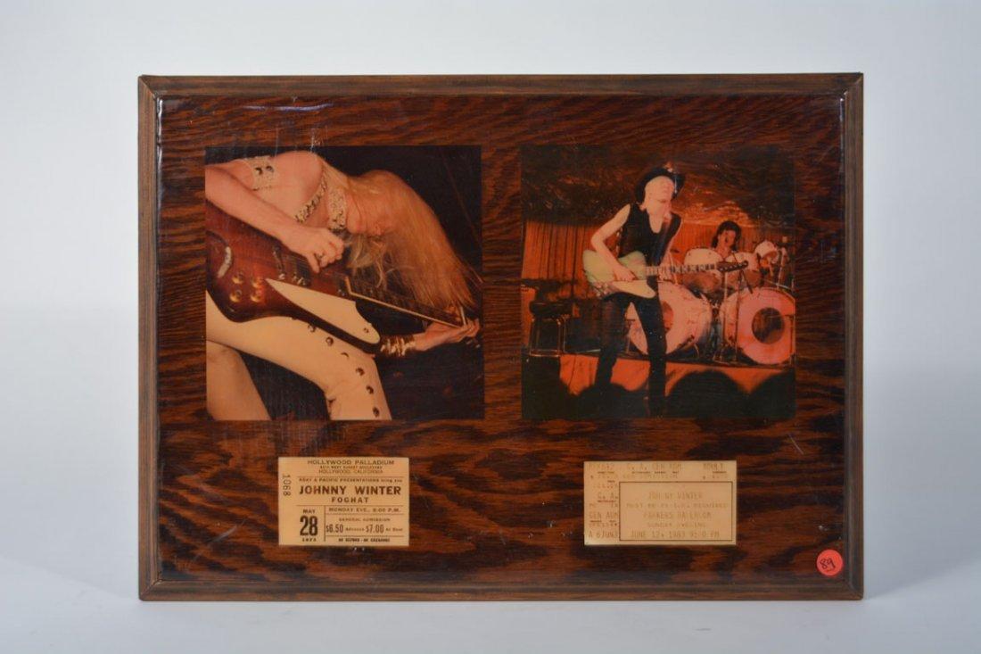 Johnny Winter Memorabilia Plaque