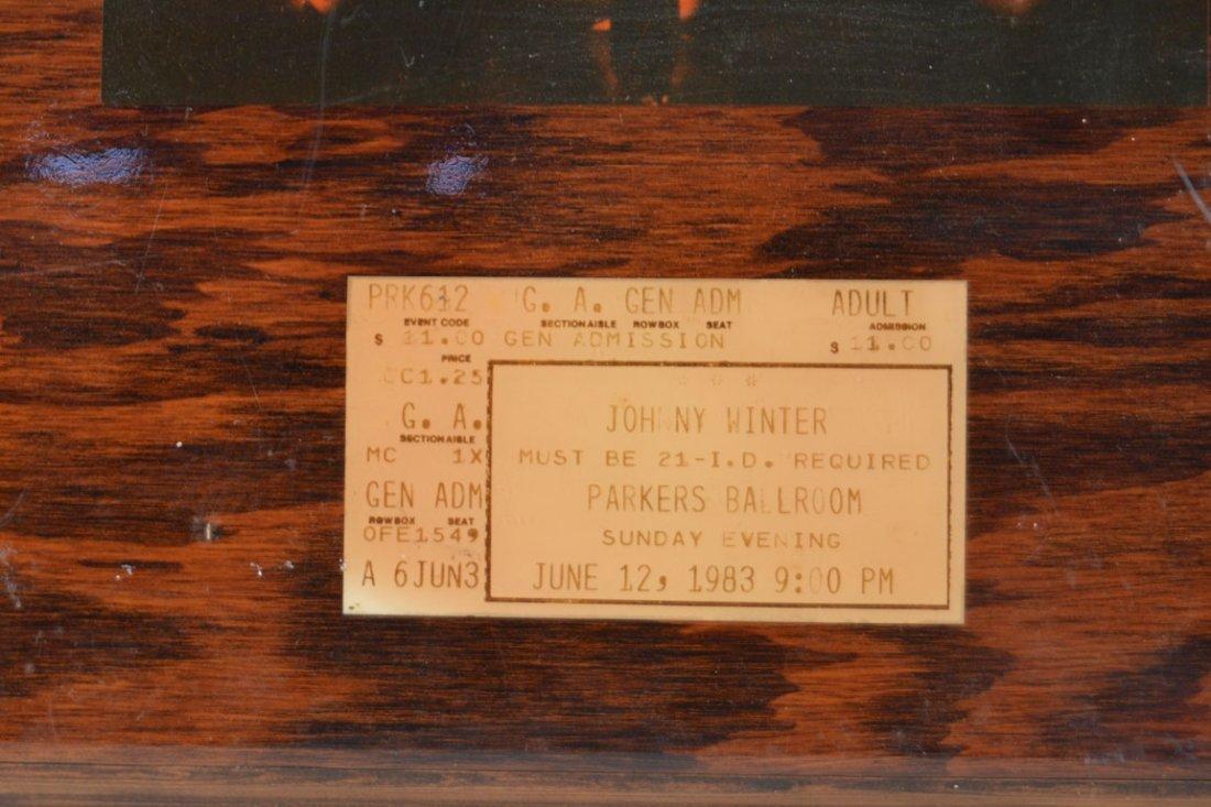 Johnny Winter Memorabilia Plaque - 2