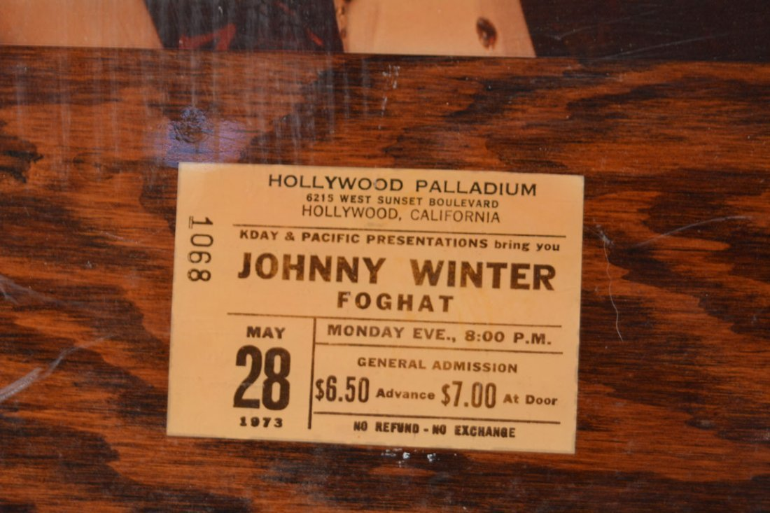 Johnny Winter Memorabilia Plaque - 3