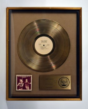 "Gold Record for ""Roadwork"""