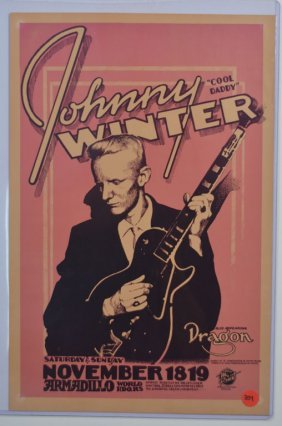 "Poster: Johnny Winter, ""Cool Daddy"""