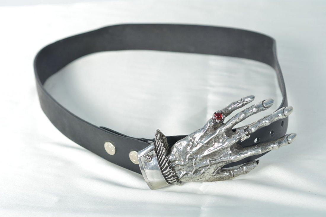 Johnny Winter's Gothic Hand Belt Buckle