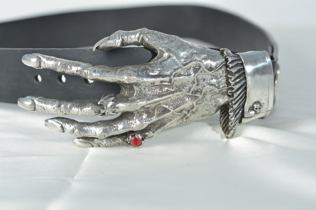Johnny Winter's Gothic Hand Belt Buckle - 2