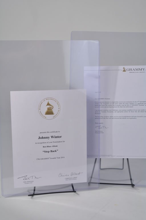 Grammy Nomination Certificate and Letter