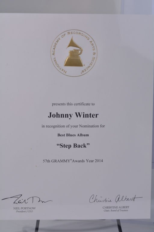 Grammy Nomination Certificate and Letter - 2
