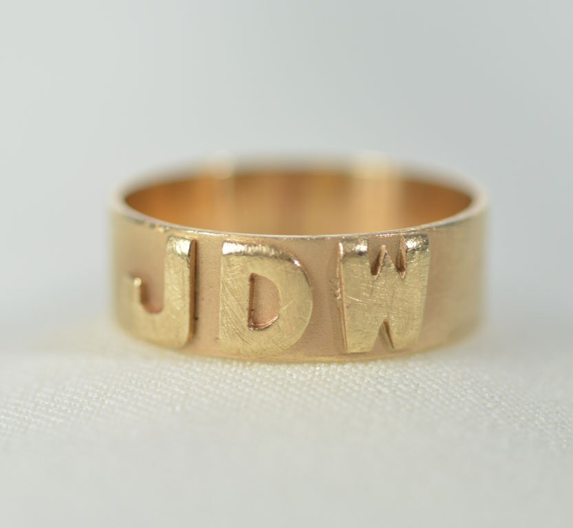 Johnny Winter's Monogrammed Ring