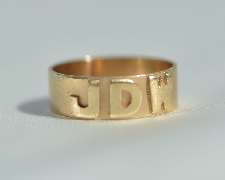 Johnny Winter's Monogrammed Ring - 3
