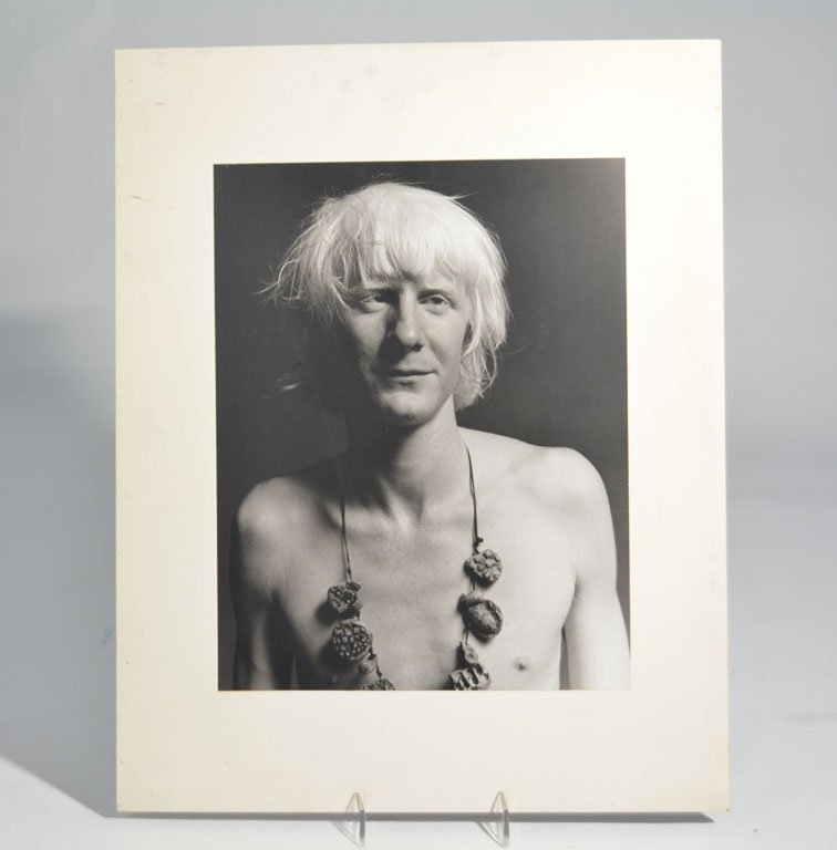 Portrait of Johnny Winter with Necklace