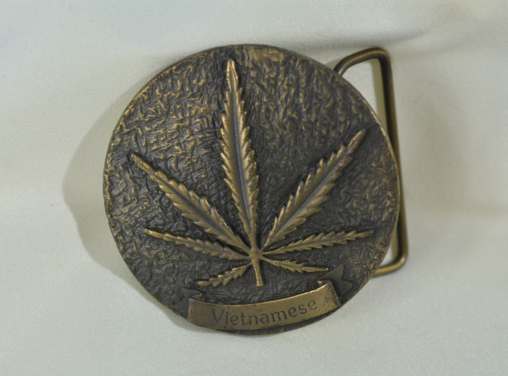 Johnny Winter's Marijuana Belt Buckle - 2