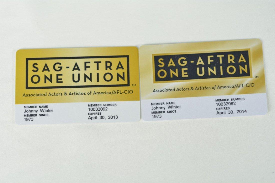 SAG-AFTRA ONE UNION Cards