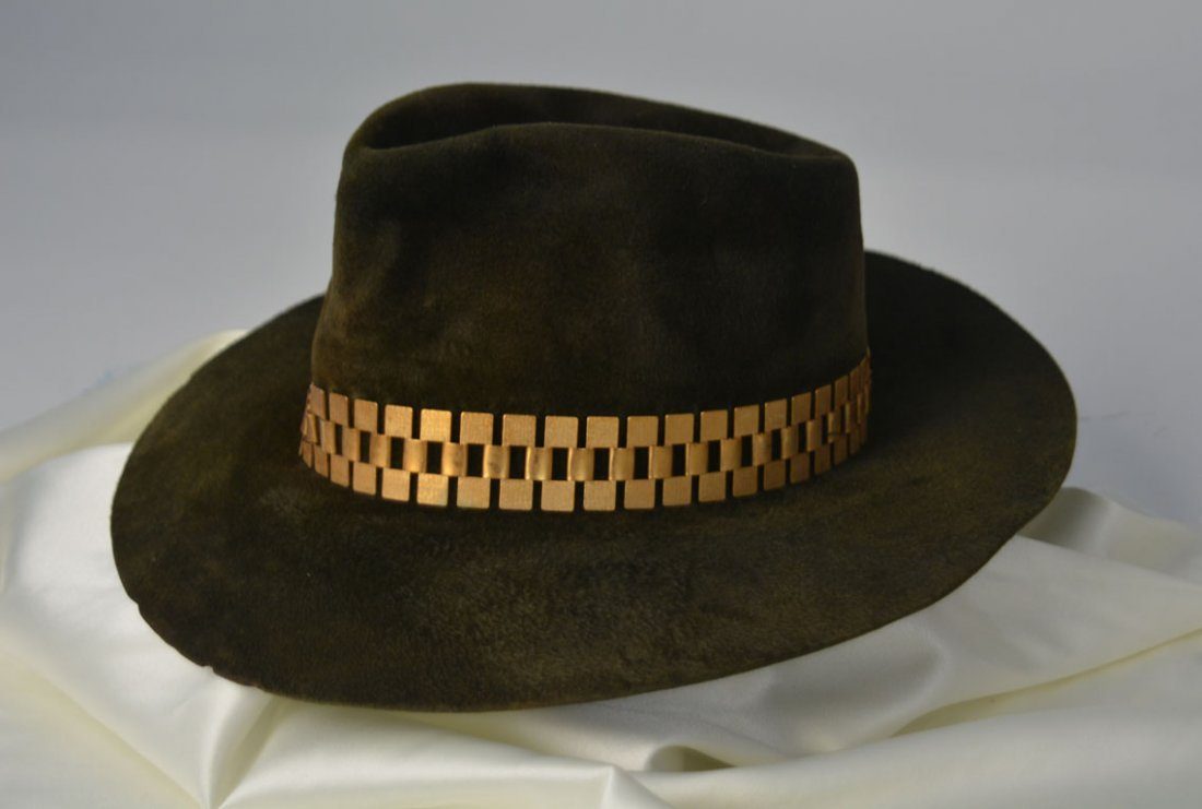 Johnny Winter's Olive Suede Hat