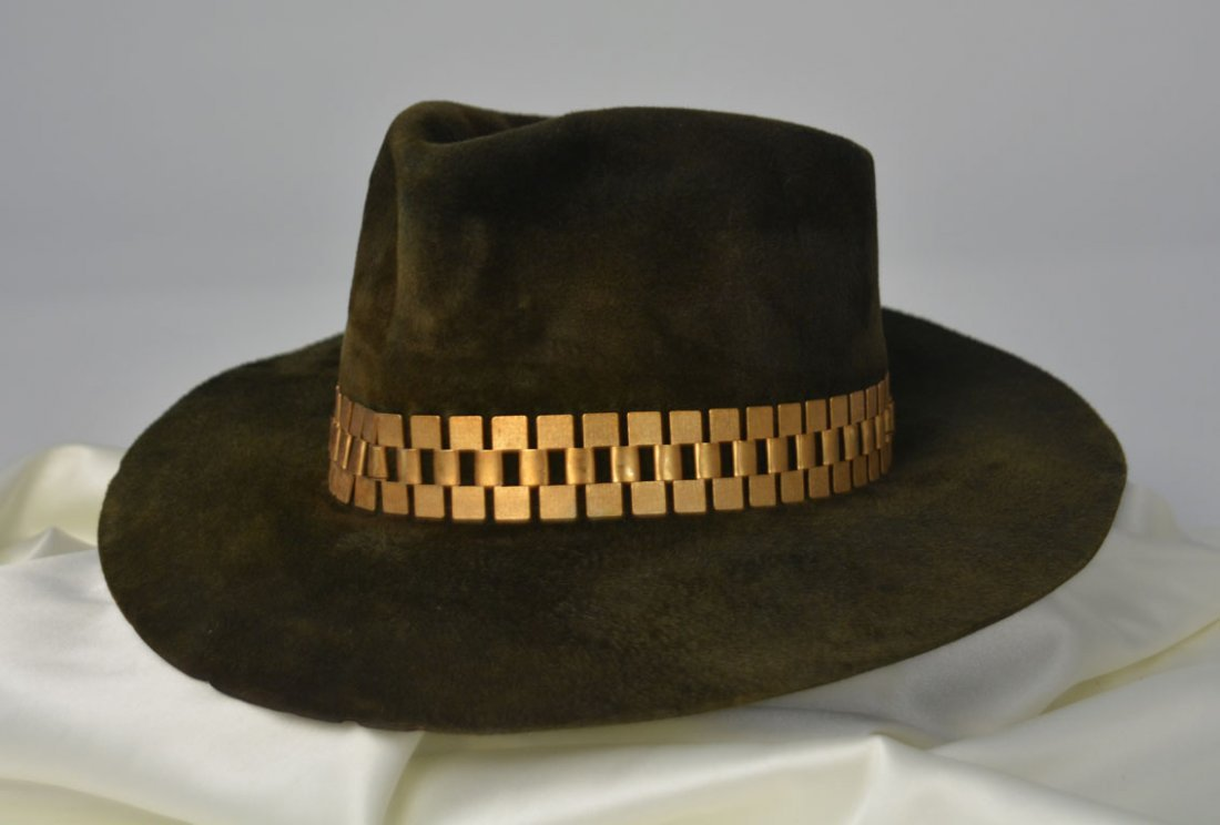 Johnny Winter's Olive Suede Hat - 2