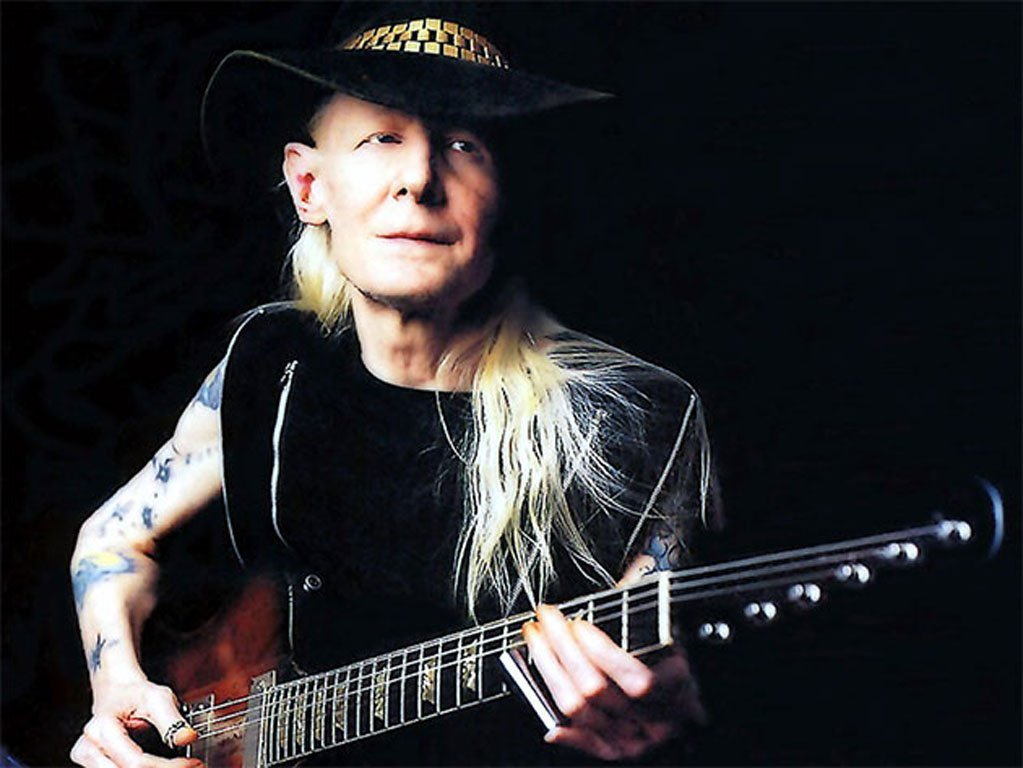 Johnny Winter's Olive Suede Hat - 3