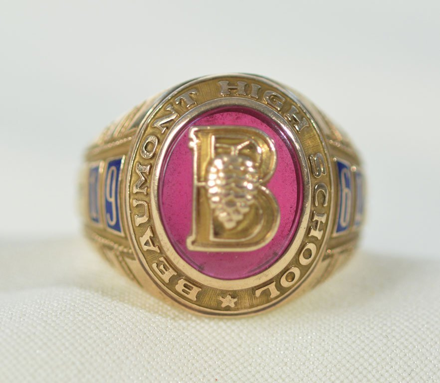 1962 Beaumont High School Ring