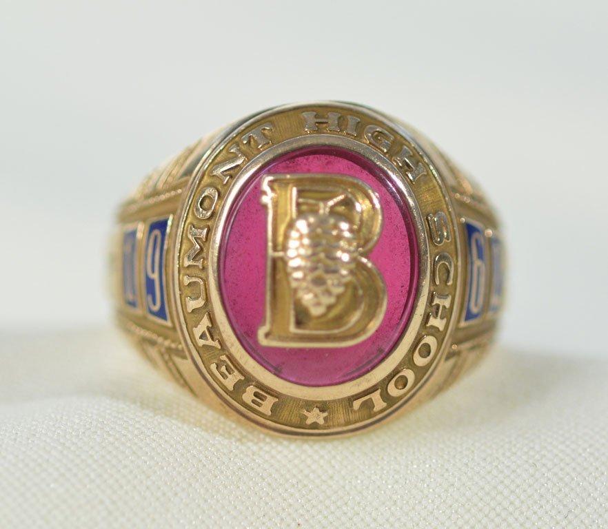 1962 Beaumont High School Ring