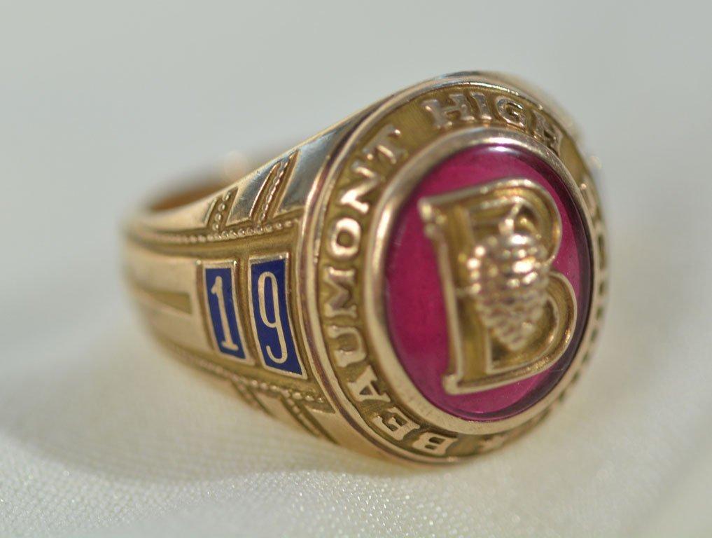 1962 Beaumont High School Ring - 4